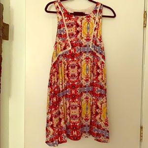 Minkpink Floral Crochet Boho Swing Dress
